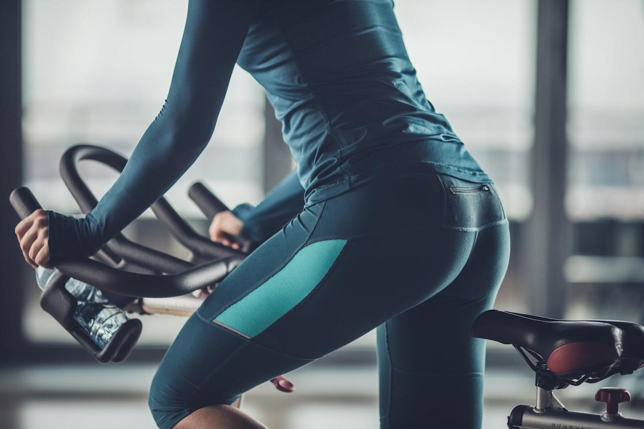 "<p>Getting a seat cushion, or ""saddle cover,"" for padding can create a bit more comfort during an indoor cycling class, Dyan said. She suggested something like the <a href=""https://www.popsugar.com/buy/Tonbux-Most-Comfortable-Bicycle-Seat-484056?p_name=Tonbux%20Most%20Comfortable%20Bicycle%20Seat&retailer=amazon.com&pid=484056&price=22&evar1=fit%3Aus&evar9=46535948&evar98=https%3A%2F%2Fwww.popsugar.com%2Fphoto-gallery%2F46535948%2Fimage%2F46536078%2FDuring-Use-Seat-Cushion&list1=indoor%20cycling&prop13=api&pdata=1"" rel=""nofollow"" data-shoppable-link=""1"" target=""_blank"" class=""ga-track"" data-ga-category=""Related"" data-ga-label=""https://www.amazon.com/TONBUX-Comfortable-Replacement-Absorbing-Reflective/dp/B074292N7K/ref=asc_df_B074292N7K/?"" data-ga-action=""In-Line Links"">Tonbux Most Comfortable Bicycle Seat</a> ($22). They're easy to transport to and from class, she said. Emily noted that some cycling studios actually offer padded seat cushions (at Flywheel they are located by the instructor podium, for instance).</p>"