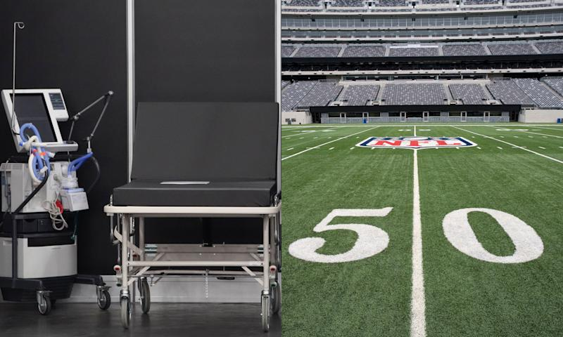 N.F.L. football stadiums could be an option to be transformed into temporary field hospitals.