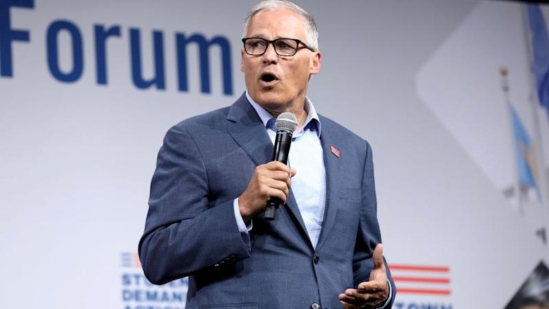 2020 US presidential election former candidate Jay Inslee.
