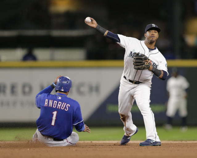 """All-Star shortstop <a class=""""link rapid-noclick-resp"""" href=""""/mlb/players/9247/"""" data-ylk=""""slk:Jean Segura"""">Jean Segura</a> appears likely to be headed to the <a class=""""link rapid-noclick-resp"""" href=""""/mlb/teams/phi"""" data-ylk=""""slk:Phillies"""">Phillies</a> in a trade. (AP Photo/John Froschauer)"""