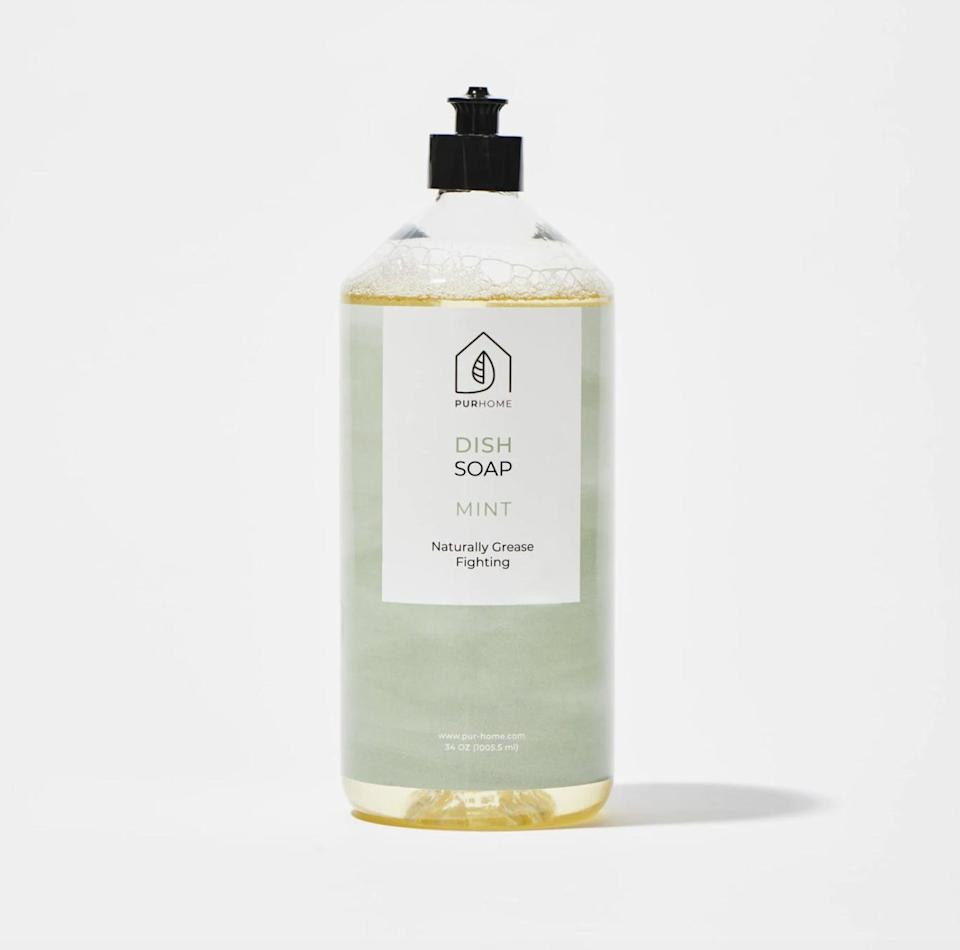 <p>Made with plant-based, biodegradable ingredients and infused with essential oils, this <span>PUR Home Dish Soap </span> ($12) will leave their kitchen squeaky clean.</p>