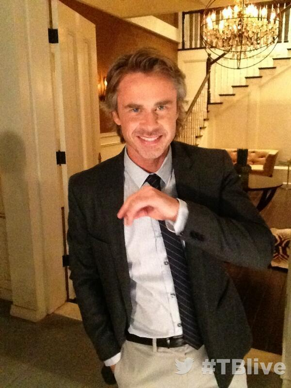 On set at #TBlive #TrueBlood ?with Sam Trammell @SamTrammell