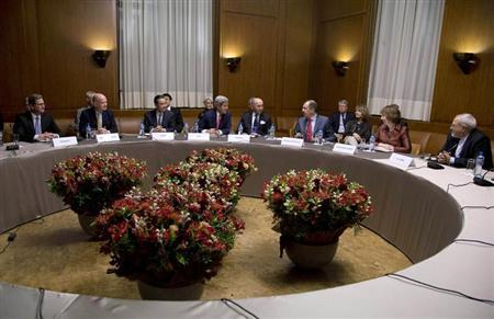Officials gather for nuclear talks at the United Nations Palais in Geneva