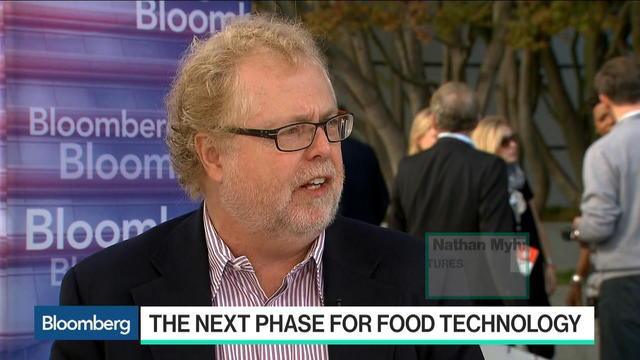Oct. 20 -- Nathan Myhrvold, founder of The Cooking Lab and Intellectual Ventures and former Microsoft chief technology officer, discusses the next phase for food technology and the importance of patents with Bloomberg's Emily Chang at the Vanity Fair New Establishment Summit in San Francisco.