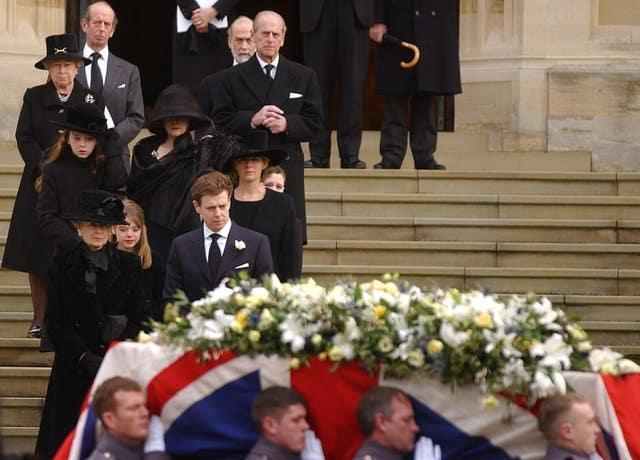 Sir Angus Ogilvy funeral at Windsor Castle