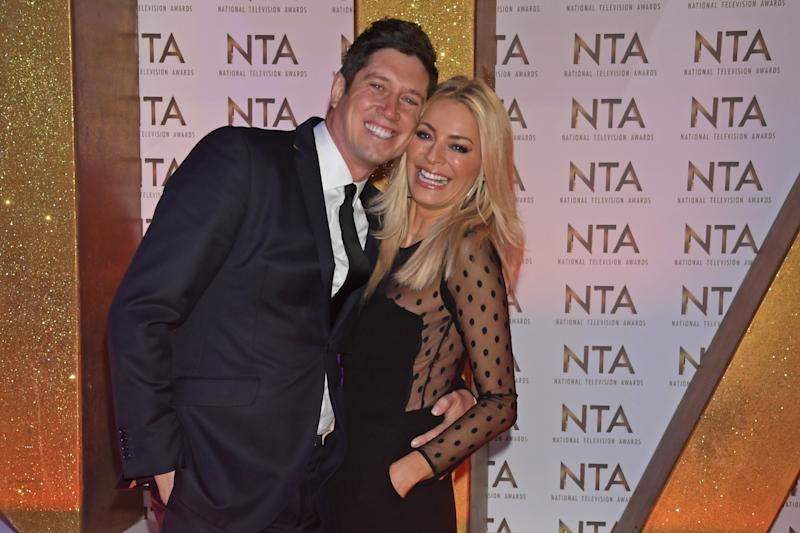 Vernon Kay and Tess Daly attend the National Television Awards 2020 at The O2 Arena on January 28, 2020 in London, England. (Photo by David M. Benett/Dave Benett/Getty Images)