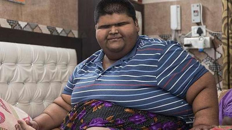 Weighing 237kg, he is world