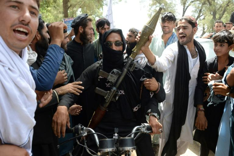 An Afghan Taliban militant during a brief ceasefire last month