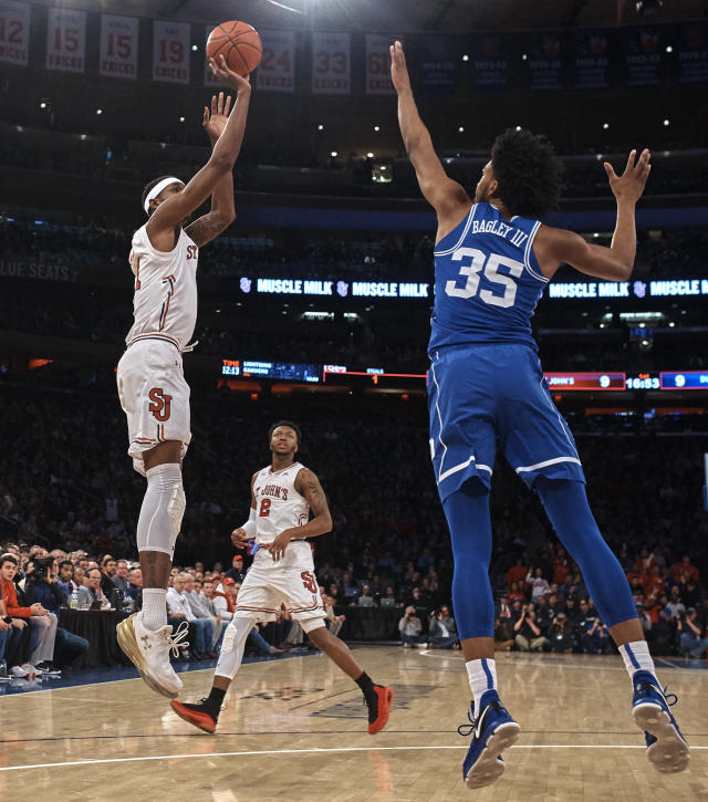 Bagley is a terrific athlete, but at 6-foot-11 he averages just 1.1 blocks per game. (AP)