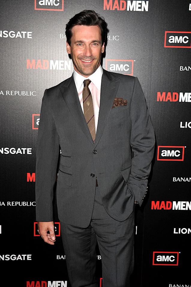 "Jon Hamm is bringing his sexy smoldering voice to Springfield! At Tuesday's premiere of the new season of ""Mad Men,"" Hamm told ""Access Hollywood"" that his guest stint on ""The Simpsons"" was ""a great honor,"" and that he'd be playing an FBI agent on the animated show. John Shearer/<a href=""http://www.wireimage.com"" target=""new"">WireImage.com</a> - July 20, 2010"