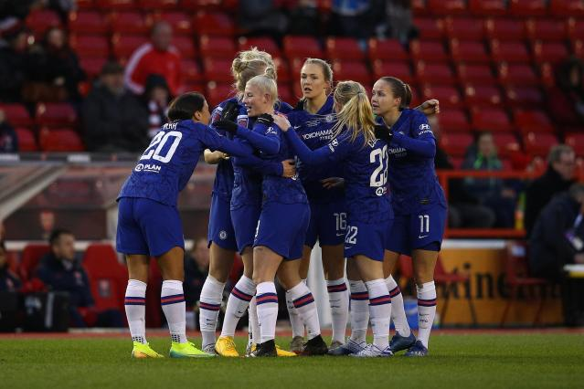 Female professional footballers are still paid significantly less than their male counterparts. (Picture: Chris Lee - Chelsea FC/Chelsea FC via Getty Images)