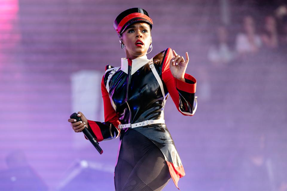 CHICAGO, ILLINOIS - AUGUST 02: Janelle Monáe performs at the Lollapalooza Music Festival at Grant Park on August 02, 2019 in Chicago, Illinois. (Photo by Josh Brasted/FilmMagic)