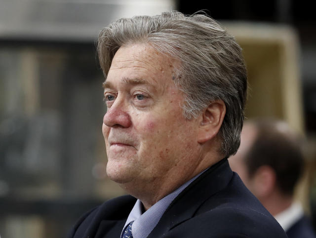 Steve Bannon in April. (AP Photo/Carolyn Kaster, File)