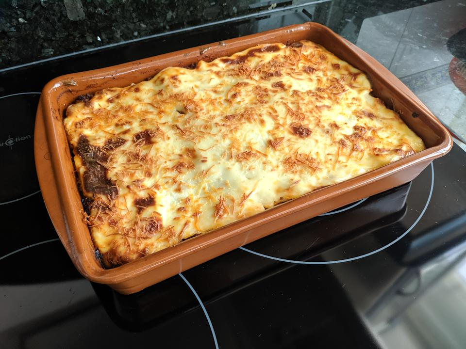 Classic Lasagna with bolognese sauce. Real food