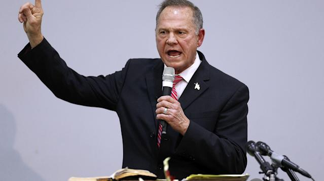Watch This GOP Congressman Literally Run Away From Questions About Roy Moore