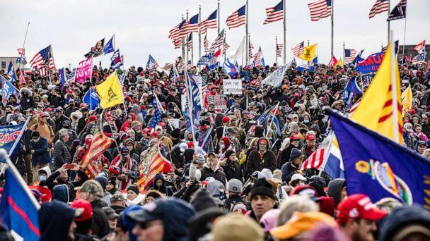 PHOTO: Supporters of President Donald Trump flock to the National Mall by the tens of thousands for a rally in Washington, Jan. 6, 2021. (Samuel Corum/Getty Images)