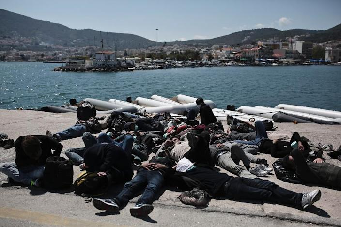 Neither Athens nor other Greek cities have many facilities to provide first aid or lodgings to migrants and asylum seekers (AFP Photo/Angelos Tzortzinis)
