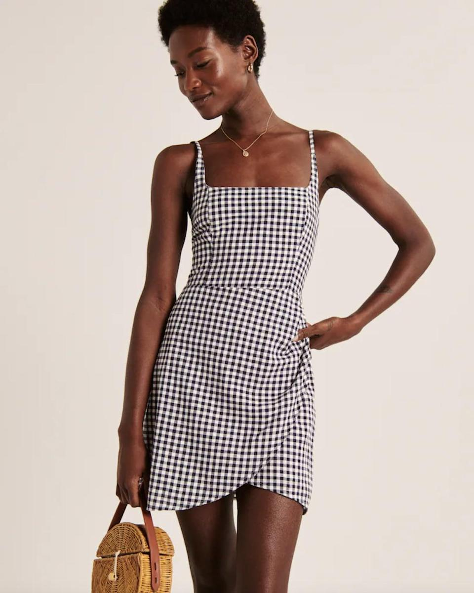 <p>This <span>Abercrombie &amp; Fitch Scoopneck Wrap Mini Dress</span> ($59) is perfect for spring picnics.</p>
