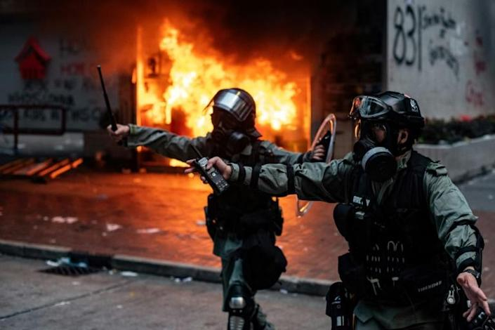 This weekend's clashes were the most sustained in weeks (AFP Photo/Philip FONG)