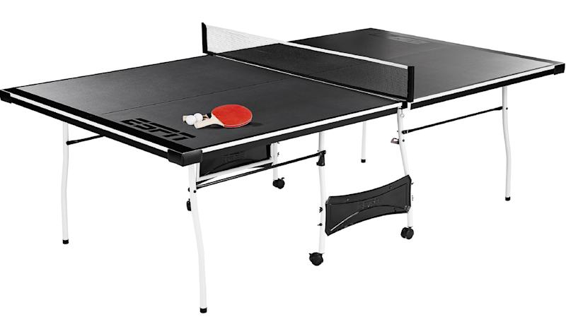 ESPN Mid-Size Folding Table Tennis Table with Paddles and Balls. (Photo: Walmart)