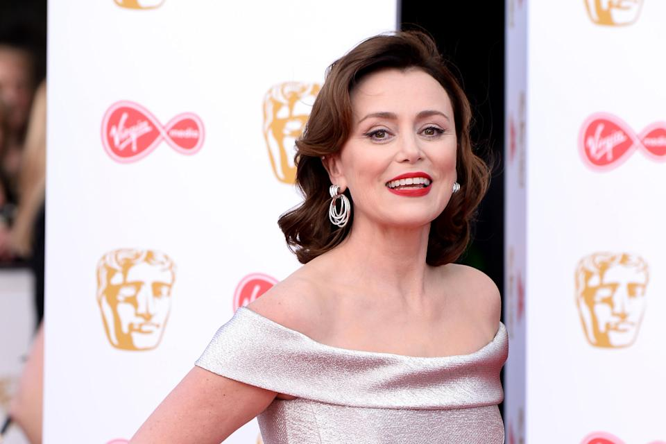 <p>Keeley Hawes at the Baftas in 2019</p> (Getty)