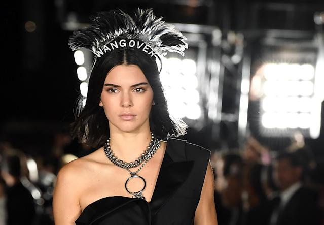 Kendall Jenner, at the Alexander Wang show during New York Fashion Week in September 2017, is clarifying comments she made about the modeling world that upset her peers. (Photo: Angela Weiss/AFP/Getty Images)