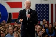 White House hopefuls Joe Biden, pictured campaigning in West Des Moines, Iowa, and Bernie Sanders are both in their late 70s (AFP Photo/JIM WATSON)