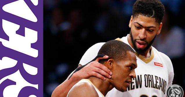 Anthony Davis is excited to play with Rajon Rondo again: 'He's a guy I can count on to get the ball in my sweet spot'