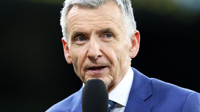 Bruce McAvaney, pictured here before Richmond's clash with Carlton in round one.