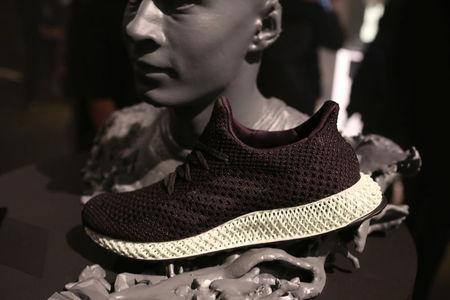 The new Adidas Futurecraft shoe is displayed in New York City