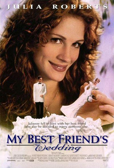 "<p>So many of us sympathize with Julianne (<span class=""itemprop"">Julia Roberts</span>) when she only realizes she's in love with her best friend Michael (<span class=""itemprop"">Dermot Mulroney</span>) once he gets engaged to Kimberly (<span class=""itemprop"">Cameron Diaz</span>). We'll never forget the <a href=""https://www.youtube.com/watch?v=d-J4xYOxJ9w"" rel=""nofollow noopener"" target=""_blank"" data-ylk=""slk:group sing-along scene"" class=""link rapid-noclick-resp"">group sing-along scene</a> to Dionne Warwick's ""I Say a Little Prayer."" </p><p><a class=""link rapid-noclick-resp"" href=""https://www.amazon.com/My-Best-Friends-Wedding-Hogan/dp/B000I9U77O/ref=sr_1_1?s=instant-video&ie=UTF8&qid=1544049088&sr=1-1&keywords=my+best+friend%27s+wedding&tag=syn-yahoo-20&ascsubtag=%5Bartid%7C10055.g.3243%5Bsrc%7Cyahoo-us"" rel=""nofollow noopener"" target=""_blank"" data-ylk=""slk:STREAM NOW"">STREAM NOW</a></p>"