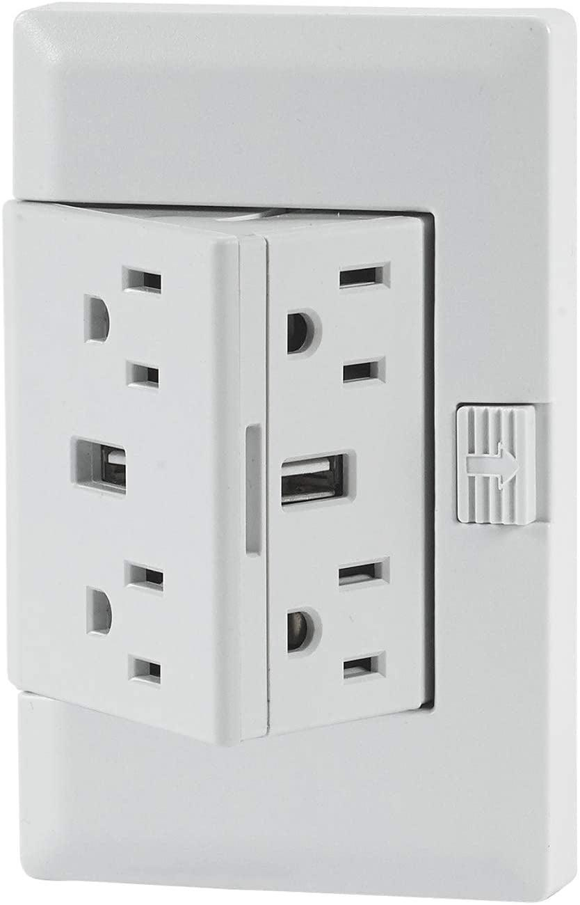 <p><span>theOUTlet USB</span> ($50) is the outlet upgrade you need for your work-from-home setup, family charging hub, or entertainment center. Instantly give yourself more outlet and USB access without the need for an extension cord.</p>
