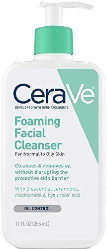 <strong><span>CeraVer foaming facial cleanser</span>, $14.99</strong>