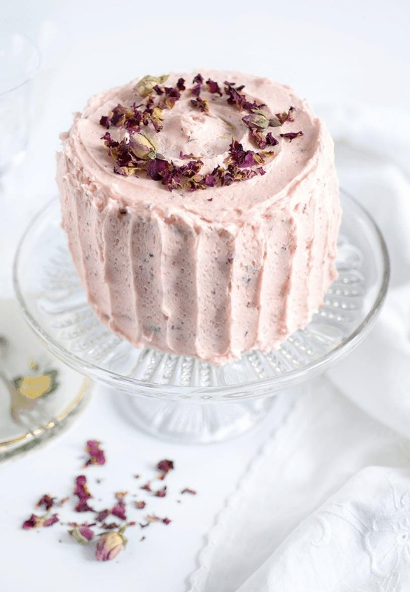 "<p>If you're looking for a sweet treat to surprise your valentine with, this cake will do the trick. It's nice and light, making the perfect postdinner snack. Top it off with fresh flowers or dried rose petals to make it worthy of praise.</p> <p><strong>Get the recipe</strong>: <a href=""https://www.supergoldenbakes.com/perfectly-romantic-rose-lemon-cake/"" class=""link rapid-noclick-resp"" rel=""nofollow noopener"" target=""_blank"" data-ylk=""slk:romantic rose and lemon cake"">romantic rose and lemon cake</a></p>"