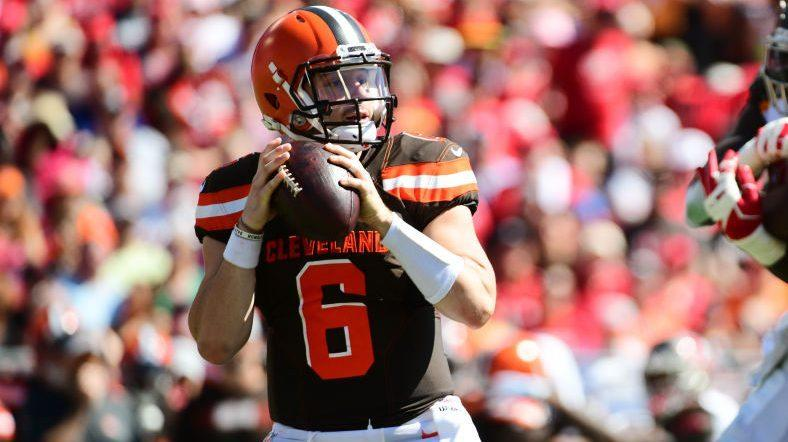 Browns' Mayfield speechless after ref's explanation of helmet hit