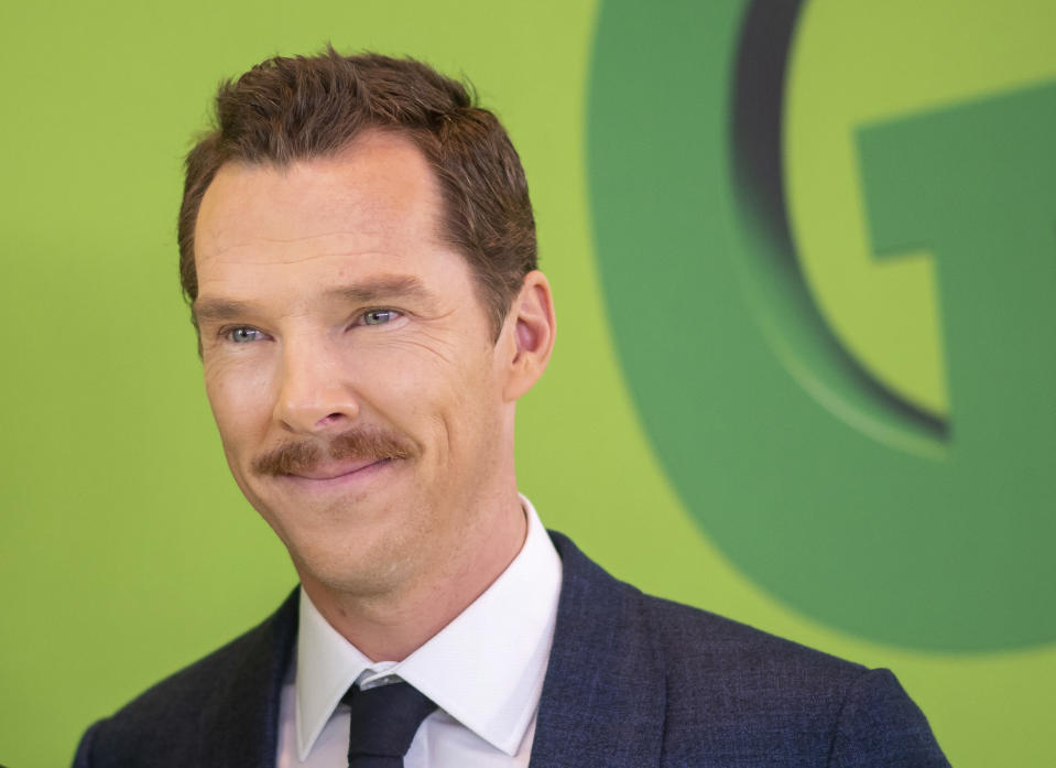 """Benedict Cumberbatch attends the premiere of Dr. Seuss' """"The Grinch"""" at Alice Tully Hall on Saturday, Nov. 3, 2018, in New York. (Photo by Charles Sykes/Invision/AP)"""