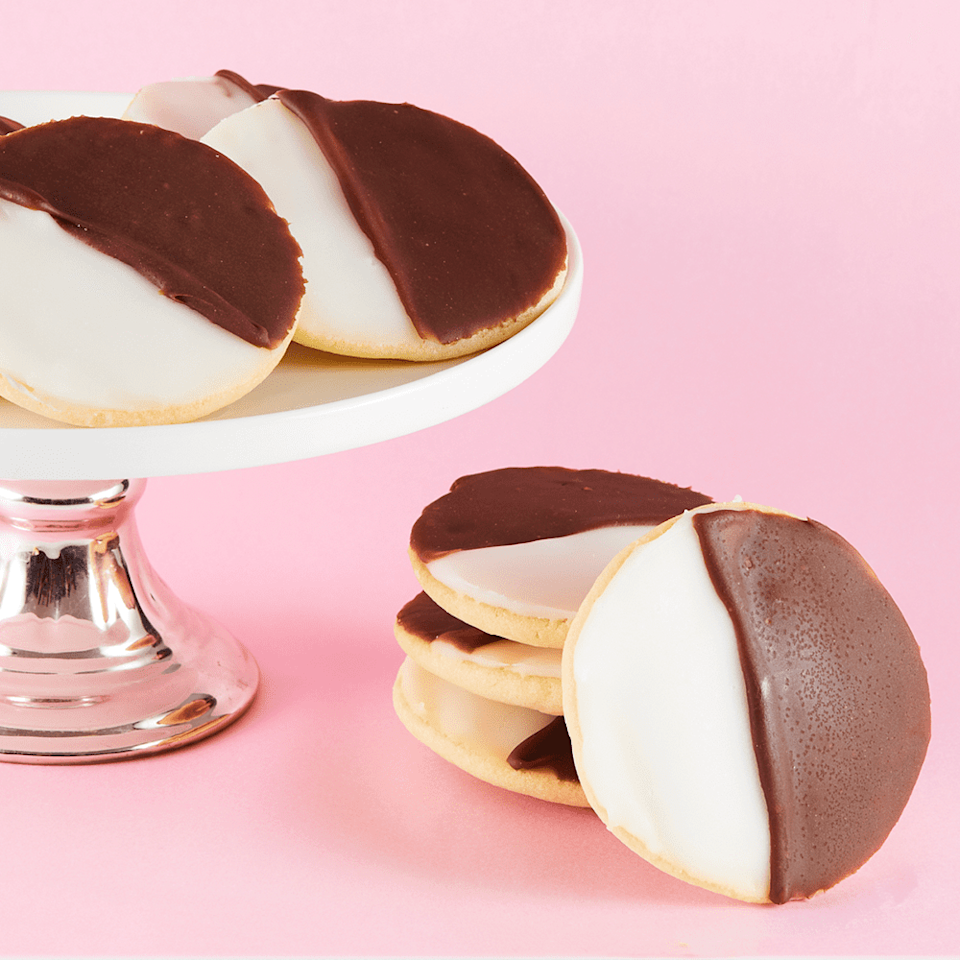 <p>Your favorite New Yorker will feel right at home taking a bite out of <span>Dana's Bakery's Vegan Black and White Cookies</span> ($29) - trust me, these are an Empire State original.</p>