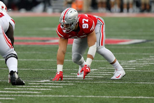 Nick Bosa is ready to go for the NFL scouting combine. (AP Photo/Jay LaPrete)