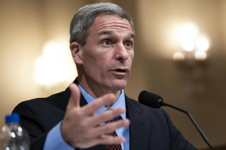 Ken Cuccinelli, the acting deputy US homeland security secretary known for his hardline views, testifies before Congress in March 2020