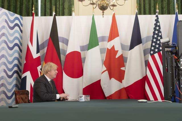 G7 virtual meeting
