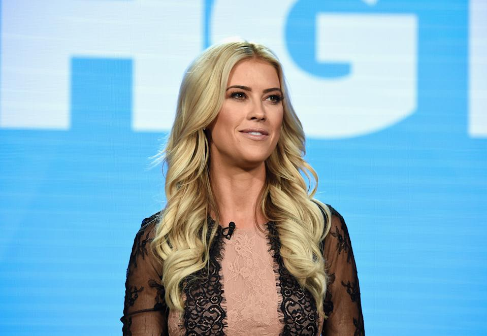 PASADENA, CA - FEBRUARY 12: Designer Christina Anstead of 'Christina on the Coast' speaks on the 'Personal Reinvention to Home Renovation: How HGTV Finds Fresh Star Vehicles for Established Talent' panel during the HGTV portion of the Discovery Communications Winter 2019 TCA Tour at the Langham Hotel on February 12, 2019 in Pasadena, California. (Photo by Amanda Edwards/Getty Images for Discovery)