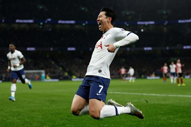 Super Son: Son Heung-min was again Tottenham's brightest spark (AFP Photo/Ian KINGTON)