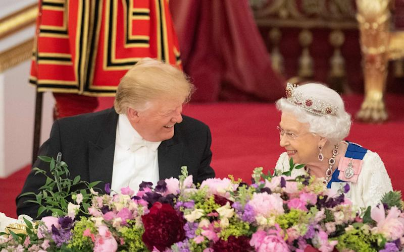 Donald Trump and The Queen - AFP