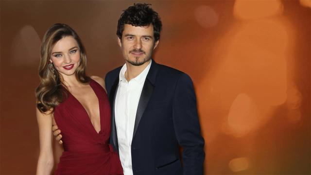 Miranda Kerr and Orlando Bloom (l-r), when they were husband and wife
