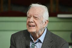 Jimmy Carter smiles