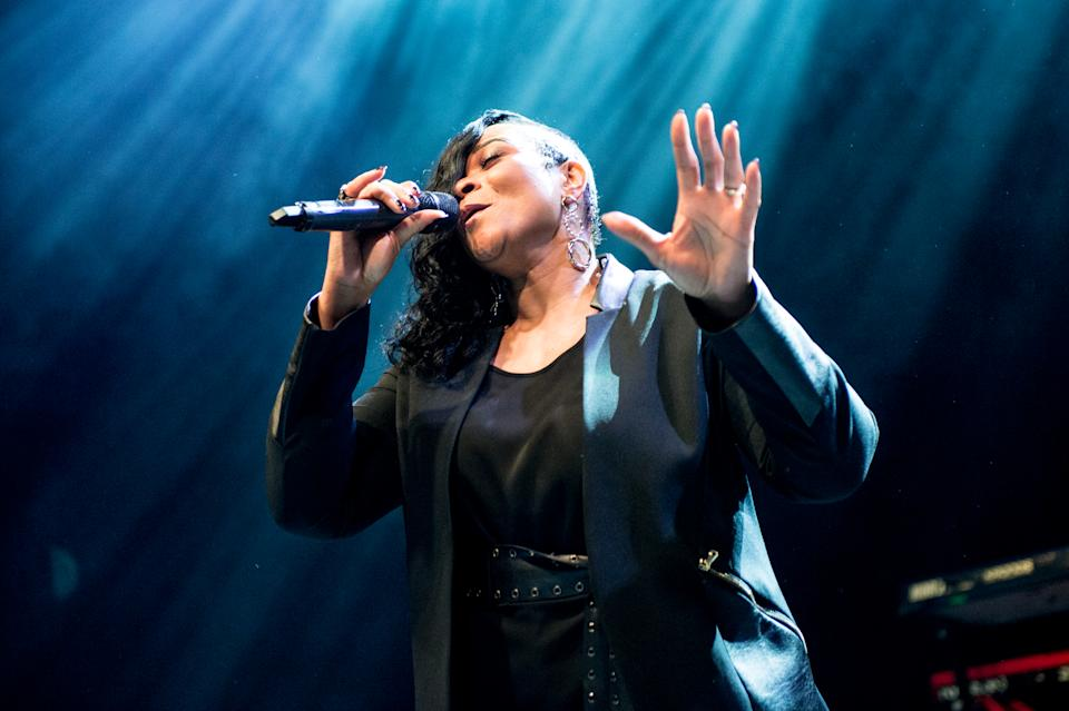 Gabrielle performs on stage at O2 Shepherd's Bush Empire on April 2, 2019. (Photo by Ollie Millington/Redferns)