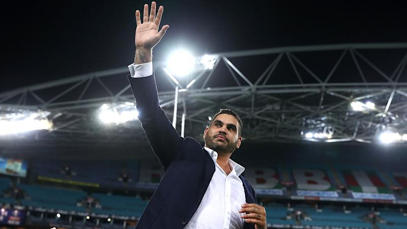 Seen here, Inglis says goodbye to the NRL after his retirement in 2019.