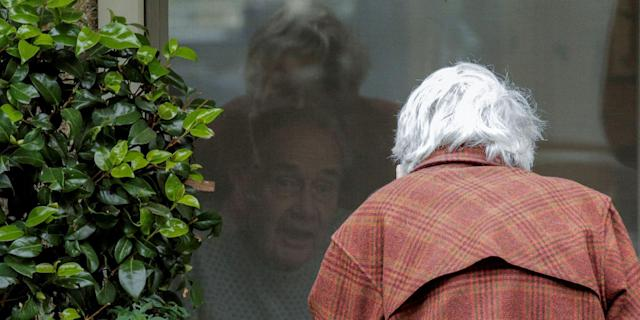 Dorothy and Gene Campbell have been separated because of coronavirus. (Picture: Reuters)