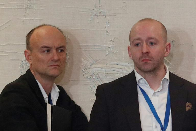 Dominic Cummings (l) and Lee Cain have both resigned amid reports of bitter Downing Street infighting