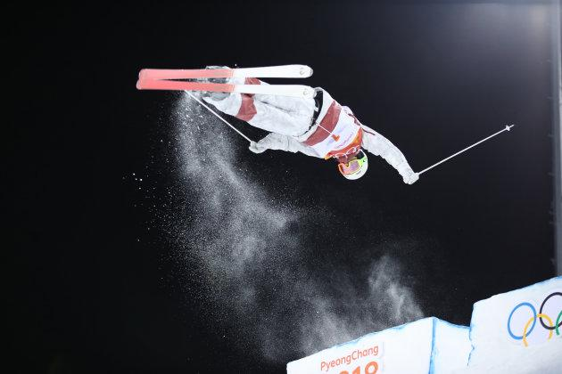 Mikael Kingsbury from Canada competes during the men's moguls freestyle skiing event at the PyeongChang Winter Games at Phoenix snow park, PyeongChang, South Korea on Feb. 12, 2018.